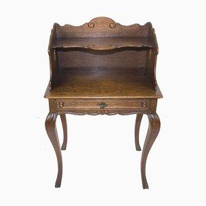 Table d'Appoint ou Table de Chevet Style Rococo en Chêne, 1930s