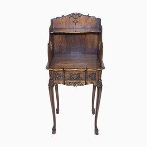 Table de Chevet Style Rococo en Chêne, 1930s