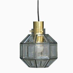 Lampada a sospensione di Glashütte Limburg, anni '60