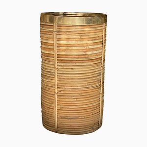 Umbrella Stand in Rattan, Italy, 1970s