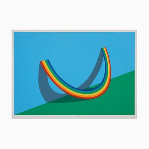 Patrick Hughes, Rest of the Rainbow, 1981, Siebdruck