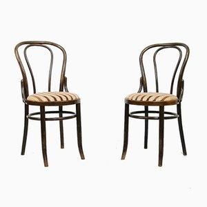 Chaises de Salon en Peluche de Thonet, 1970s, Set de 2