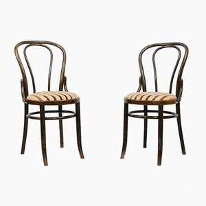 Plush Upholstered Dining Chairs by Michael Thonet, 1970s, Set of 2