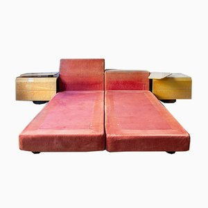 Maple Nightstands by Giovanni Offredi for Saporiti Italia, 1970s, Set of 4