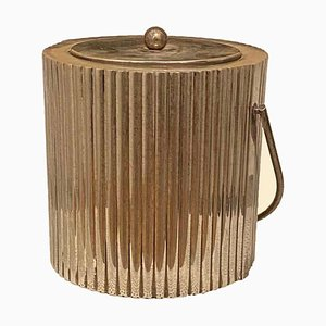 Handmade Italian Secessionist Style Silver-Plated Ice Bucket from Cassetti, 1960s