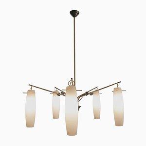 Lámpara de araña italiana de Stilnovo, años 60