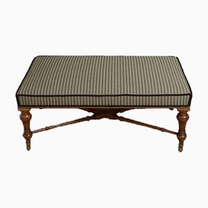 Victorian Walnut Bench or Coffee Table
