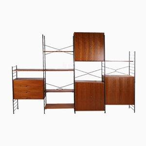 Libreria modulare a 9 elementi vintage di WHB, Germania, anni '60, set di 9
