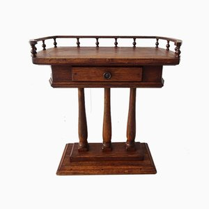 German Antique Style Oak Console Table, 1970s