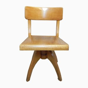 Wooden Childrens Chair, 1950s