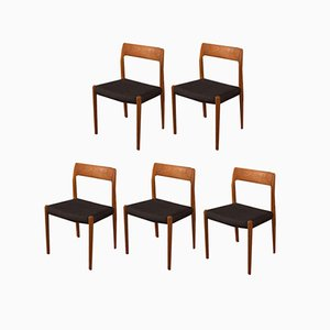 Dining Chairs by Niels Otto Møller, 1950s, Set of 5