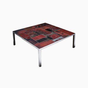 Mid-Century Ceramic Tile Coffee Table by Pia Manu