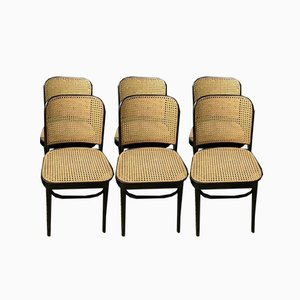No. 811 Chairs by Josef Hoffmann for Thonet, 1950s, Set of 6