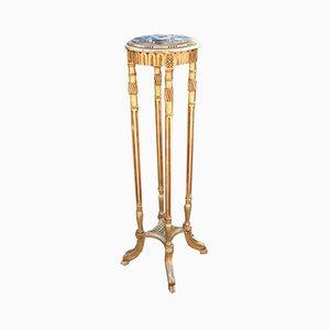 Antiker Säulenholz Tisch