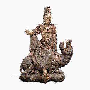 Guanyin aus Polychromem Holz, 17. Jh