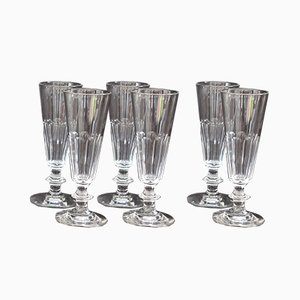 Antique Model Cato Champagne Glasses from Saint Louis, France, Set of 6