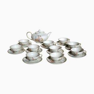 Italian Art Deco Porcelain Tea Service by Guido Andlovitz for Verbano, 1930s, Set of 11