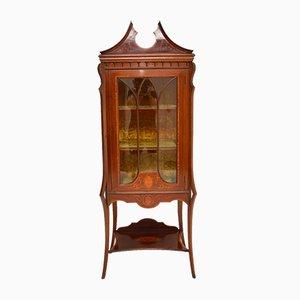 Antique Inlaid Display Cabinet