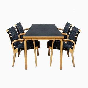 Sedia da pranzo nr. 81 A di Alvar Aalto per Artek, anni '80