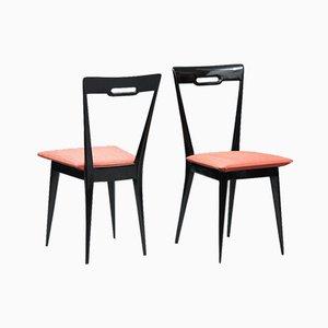 Italian Mid-Century Dining Chairs, Set of 6