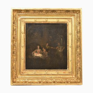 Religious Oil Painting on Canvas, Holy Family, 18th Century