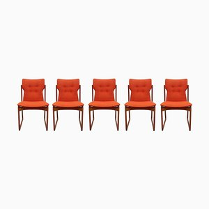 Teak Dining Chairs from Vamdrup, 1960s, Set of 5