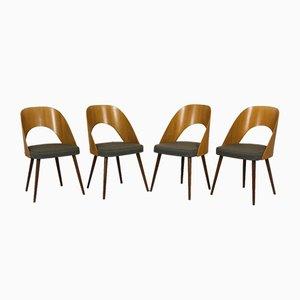 Tschechische Esszimmerstühle, 1960er, 4er Set