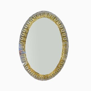 Italian Gilt Glass Mirror with Ear of Wheat Design from Cristal Art, 1960s