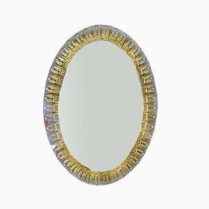 Italienischer Vergoldeter Spiegel mit Ähren-Motiv von Cristal Art, 1960er