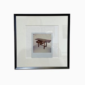 Andy Warhol, scrivania, 1976, foto Polaroid