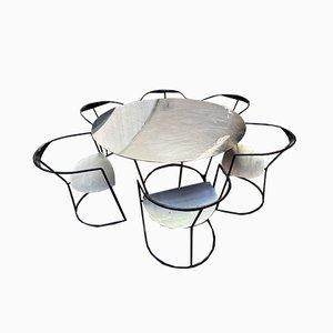 Esstisch & Stühle Set von Pol Quadens, 2000, Set of 7