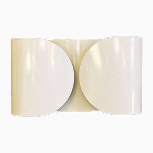 Italienische Weiße Foglio Wandlampen von Tobia Scarpa für Flos, 1966, 2er Set