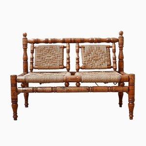 Mid-Century French Audoux & Minet Style 2-Seater Sofa