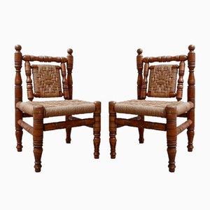 Französische Mid-Century Audoux & Minet Stil Sessel, 2er Set