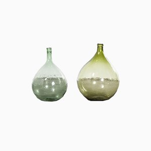 Vintage French Model 957.5 Glass Demijohns, 1950s, Set of 2
