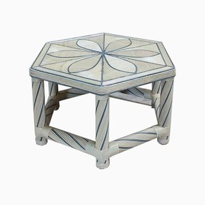 Hexagonal Bamboo Coffee Table, 1980s