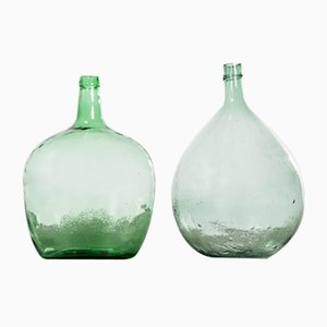 French Glass 957.7 Demijohns, 1950s, Set of 2