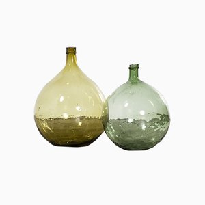 Vintage French Model 957.8 Glass Demijohns, 1950s, Set of 2