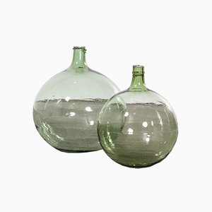 Vintage French Model 957.9 Glass Demijohns, 1950s, Set of 2