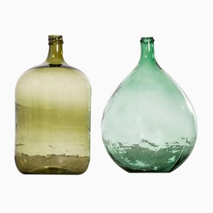 Vintage French Model 957.11 Glass Demijohns, 1950s, Set of 2