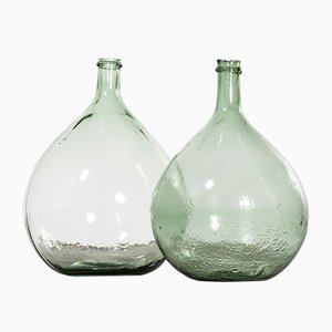 Vintage French Model 957.12 Glass Demijohns, 1950s, Set of 2