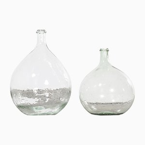 Vintage French Model 957.14 Glass Demijohns, 1950s, Set of 2