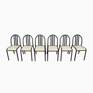 Chaises Empilables en Acier par Robert Mallet Stevens, 1970s, Set de 6