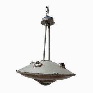 Vintage Industrial Flying Saucer Pendant Lamp
