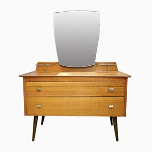 Mid-Century Dressing Table with Mirror from Lebus