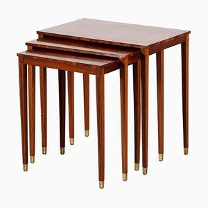 Tables Gigognes par Bodafors Svenska Möbelfabrikerna, 1950s, Set de 3