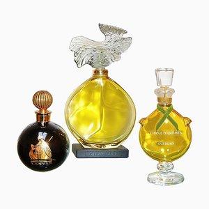 Factice Perfume Guerlain Lanvin Store Display Bottles, 1980s, Set of 3
