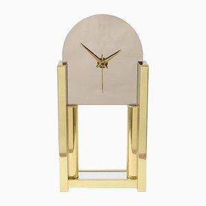 Hollywood Regency Spiegel Uhr von NUFA, 1980er