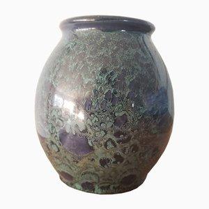 Vaso con smalto cristallino, anni '40