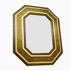 Octagonal Mirror by Jean Claude Mahey, France, 1970s